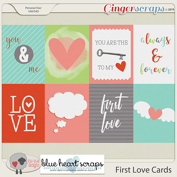 First Love Cards by Luv Ewe Designs and Blue Heart Scraps