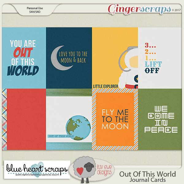 Out Of This World Journal Cards By Luv Ewe Designs And Blue Heart S S