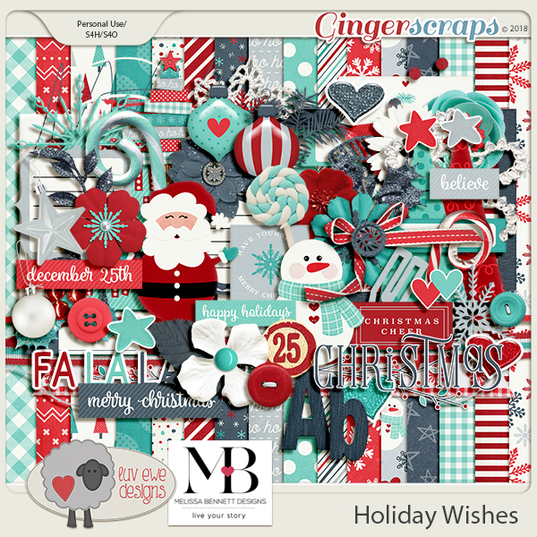 Holiday Wishes by Luv Ewe Designs and Melissa Bennett