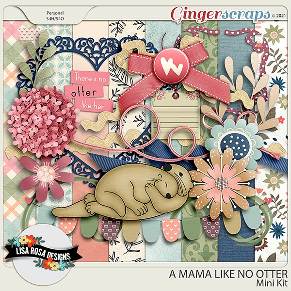 A Mama Like No Otter - Mini Kit by Lisa Rosa Designs