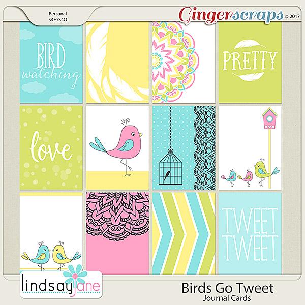 Birds Go Tweet Journal Cards by Lindsay Jane