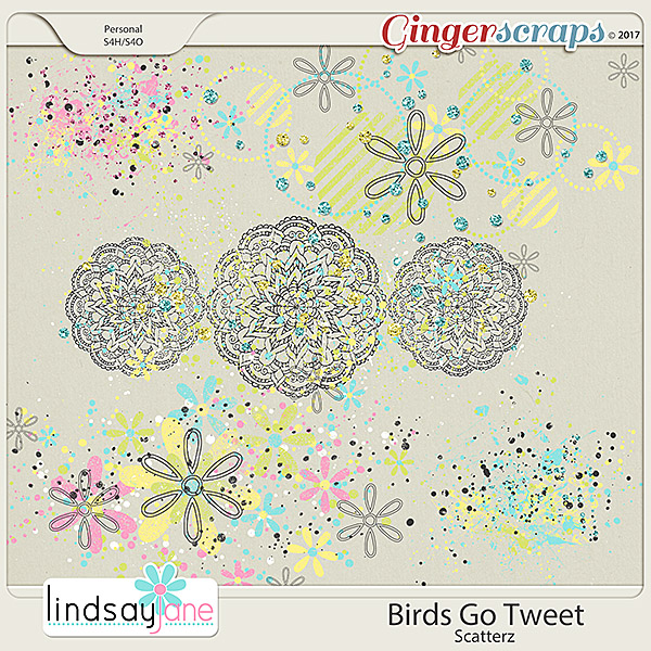Birds Go Tweet Scatterz by Lindsay Jane
