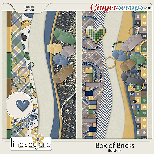 Box of Bricks Borders by Lindsay Jane