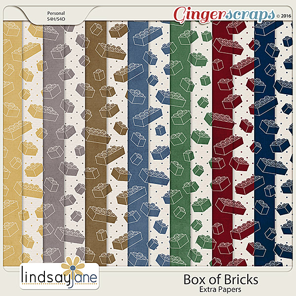 Box of Bricks Extra Papers by Lindsay Jane