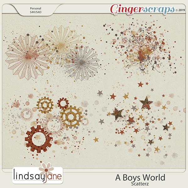 A Boys World Scatterz by Lindsay Jane