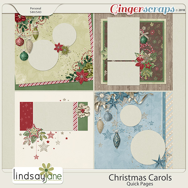 Christmas Carols Quick Pages by Lindsay Jane