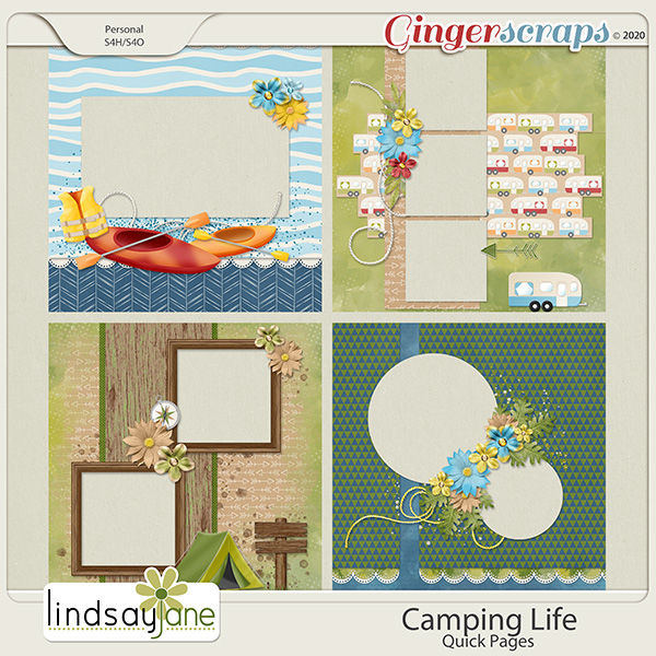 Camping Life Quick Pages by Lindsay Jane
