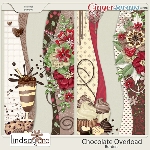 Chocolate Overload Borders by Lindsay Jane