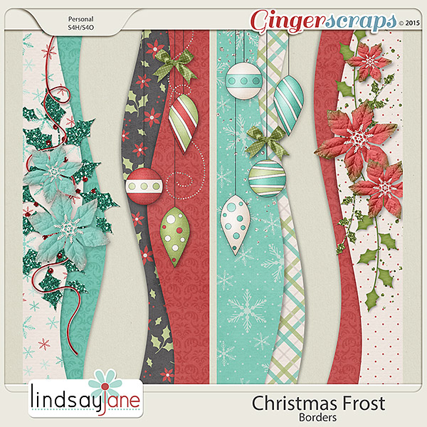 Christmas Frost Borders by Lindsay Jane