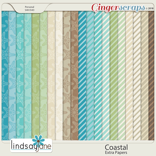 Coastal Extra Papers by Lindsay Jane