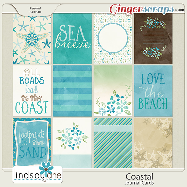 Coastal Journal Cards by Lindsay Jane