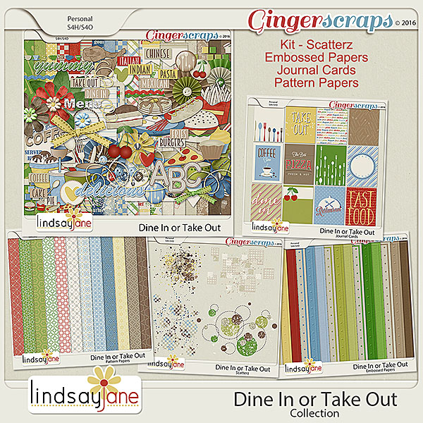 Dine In or Take Out Collection by Lindsay Jane