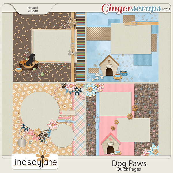 Dog Paws Quick Pages by Lindsay Jane