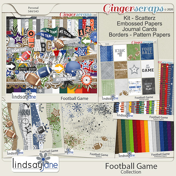 Football Game Collection by Lindsay Jane