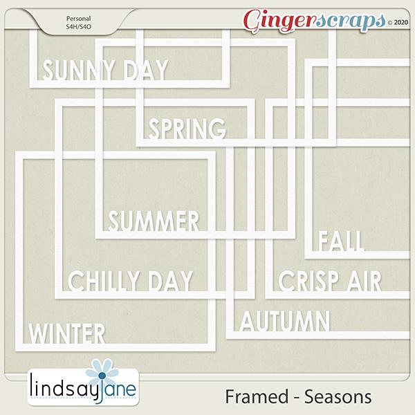 Framed Seasons by Lindsay Jane