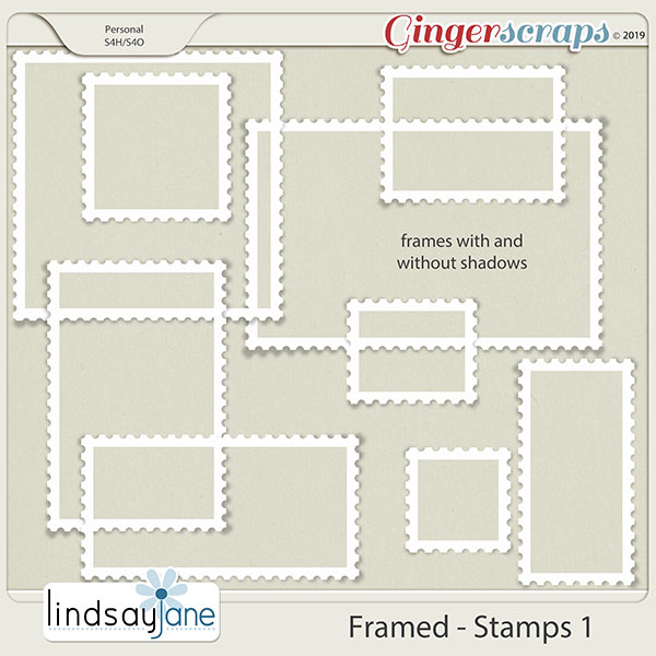 Framed Stamps 1 by Lindsay Jane