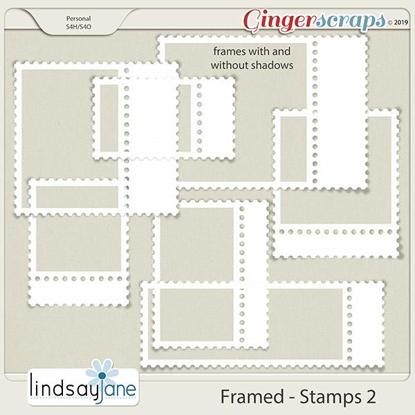 Framed Stamps 2 by Lindsay Jane