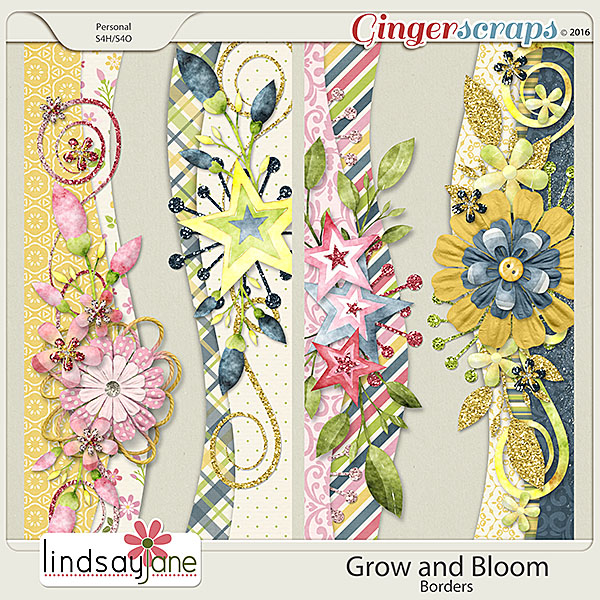 Grow and Bloom Borders by Lindsay Jane