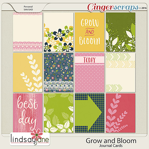 Grow and Bloom Journal Cards by Lindsay Jane