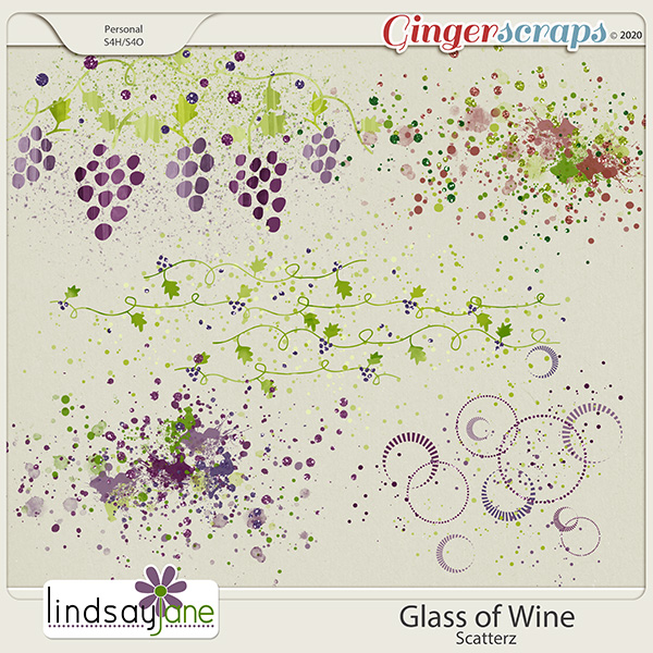 Glass of Wine Scatterz by Lindsay Jane