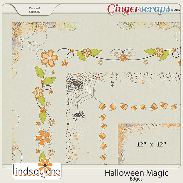 Halloween Magic Edges by Lindsay Jane