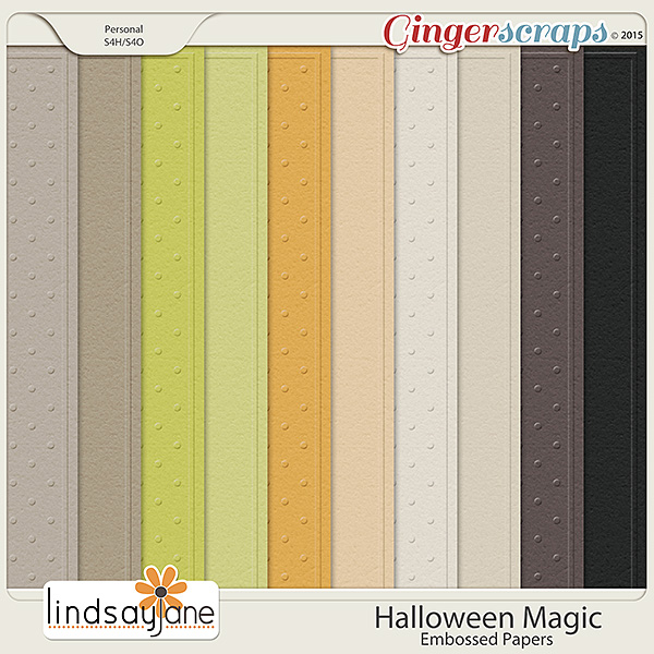 Halloween Magic Embossed Papers by Lindsay Jane