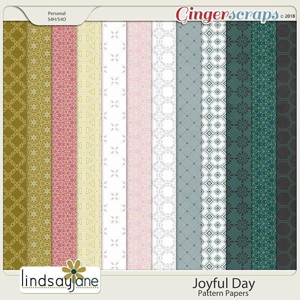 Joyful Day Pattern Papers by Lindsay Jane