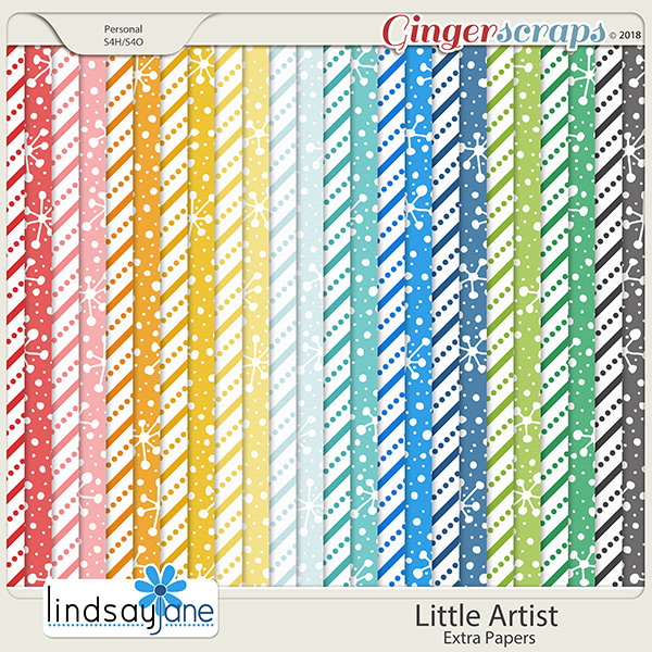 Little Artist Extra Papers by Lindsay Jane
