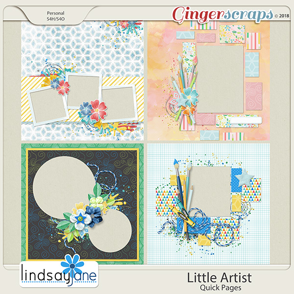 Little Artist Quick Pages by Lindsay Jane