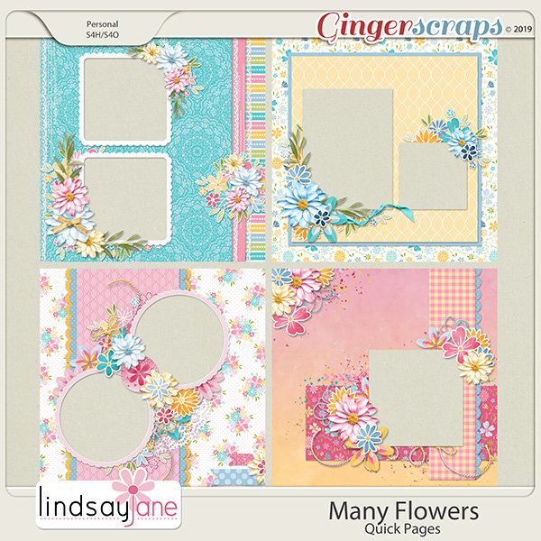 Many Flowers Quick Pages by Lindsay Jane