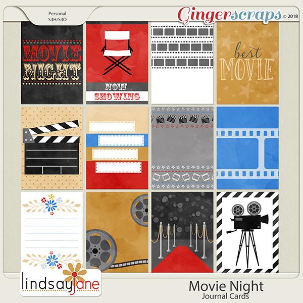 Movie Night Journal Cards by Lindsay Jane
