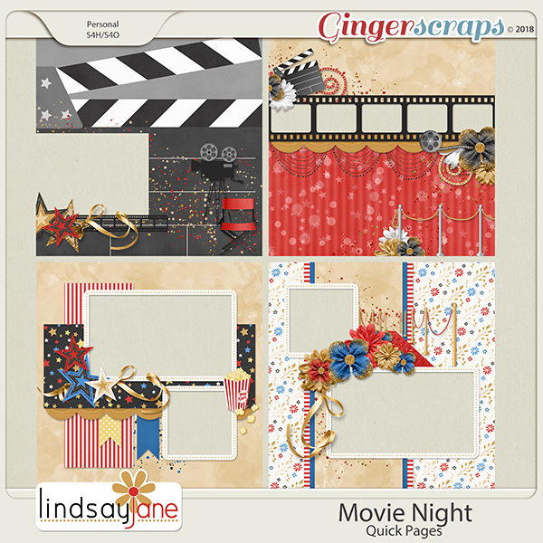 Movie Night Quick Pages by Lindsay Jane