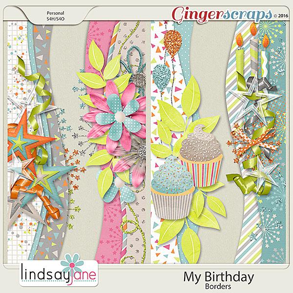 My Birthday Borders by Lindsay Jane