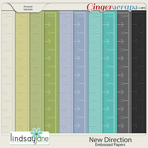 New Direction Embossed Papers by Lindsay Jane