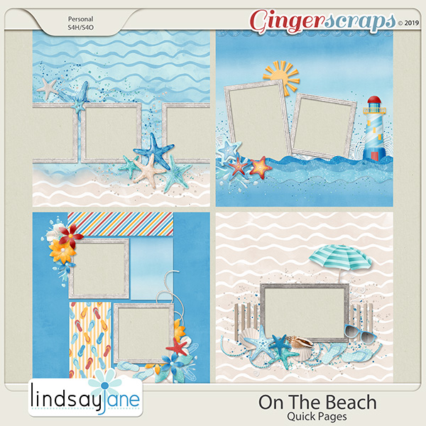 On The Beach Quick Pages by Lindsay Jane