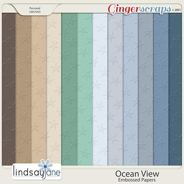 Ocean View Embossed Papers by Lindsay Jane