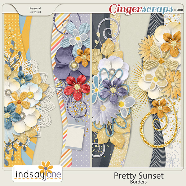 Pretty Sunset Borders by Lindsay Jane
