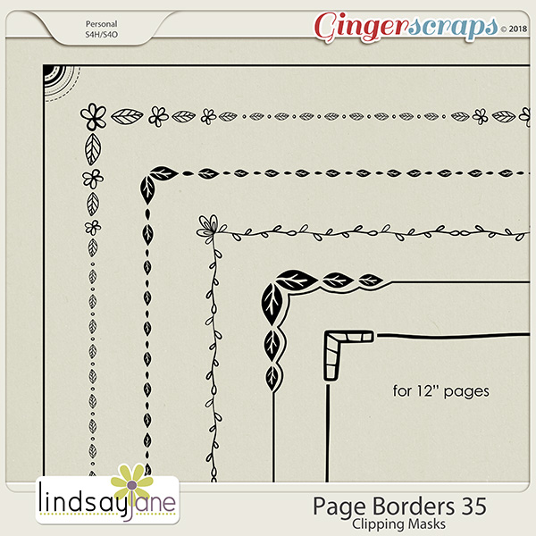 Page Borders 35 by Lindsay Jane