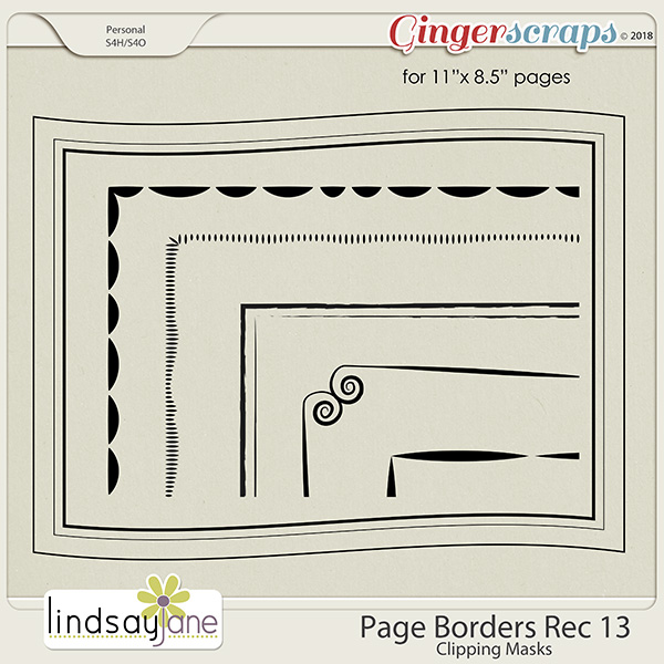 Page Borders Rec 13 by Lindsay Jane