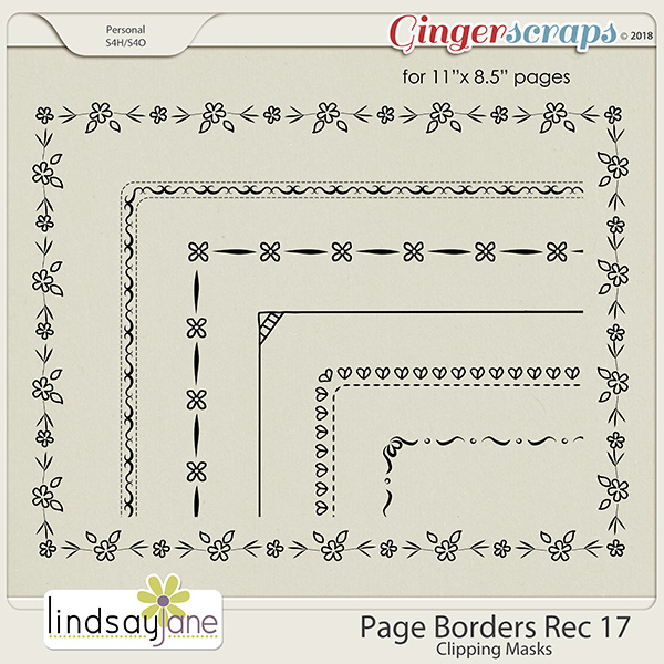 Page Borders Rec 17 by Lindsay Jane