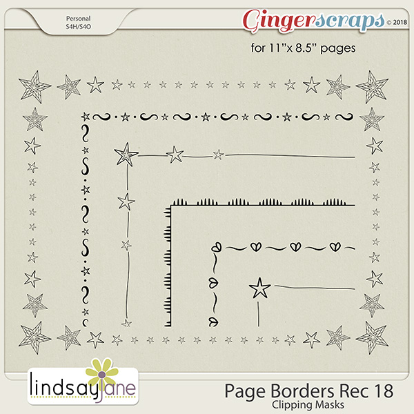Page Borders Rec 18 by Lindsay Jane