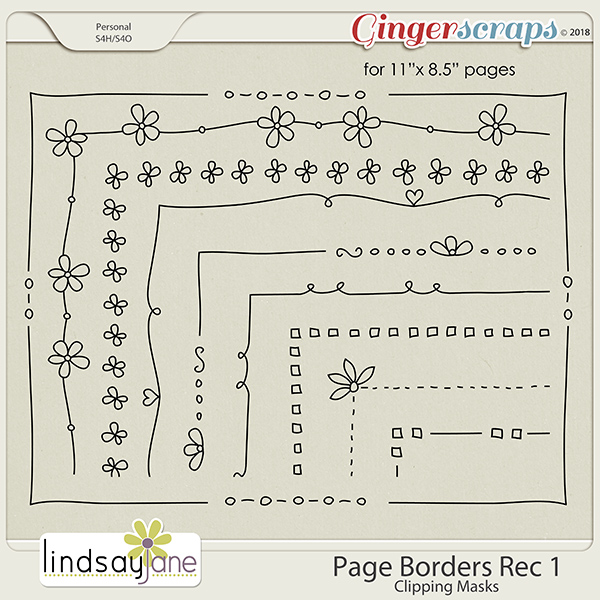 Page Borders Rec 1 by Lindsay Jane