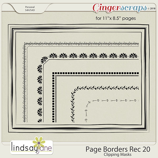 Page Borders Rec 20 by Lindsay Jane