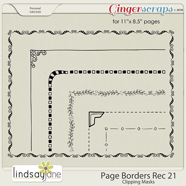 Page Borders Rec 21 by Lindsay Jane