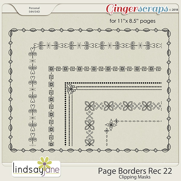 Page Borders Rec 22 by Lindsay Jane