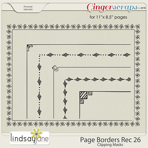 Page Borders Rec 26 by Lindsay Jane