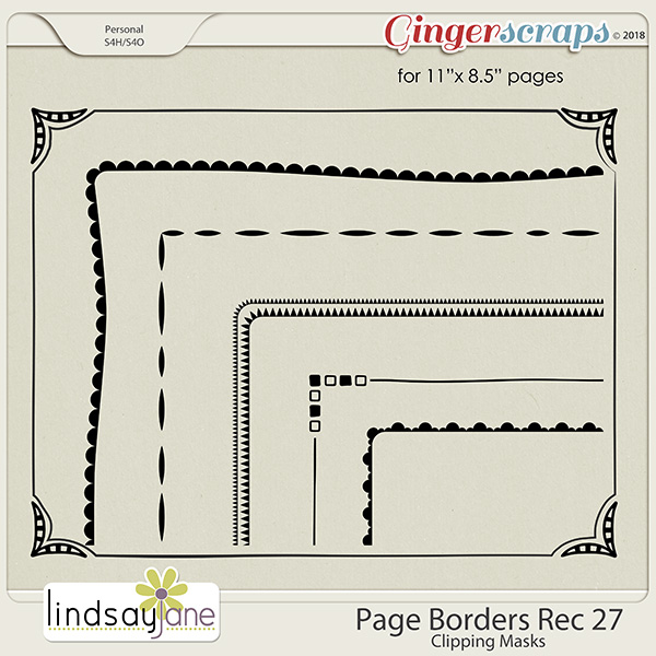 Page Borders Rec 27 by Lindsay Jane