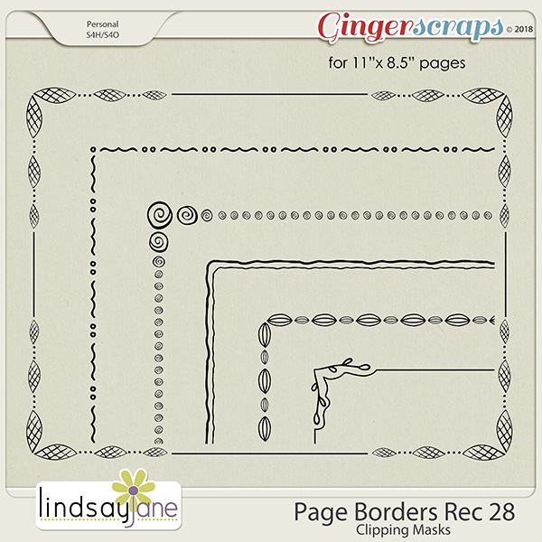 Page Borders Rec 28 by Lindsay Jane