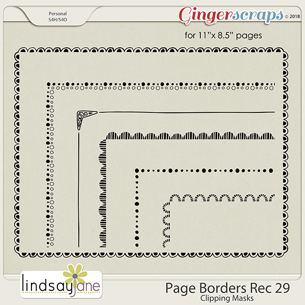 Page Borders Rec 29 by Lindsay Jane