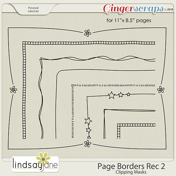 Page Borders Rec 2 by Lindsay Jane